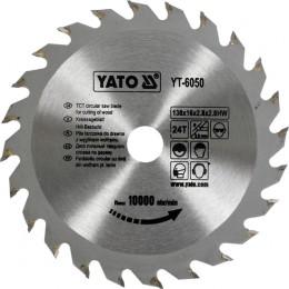 Диск пильный YATO по дереву 130х16х2.8х2.0 мм, 24 зубца (YT-6050), , 156.00 грн, Диск пильный YATO по дереву 130х16х2.8х2.0 мм, 24 зубца (YT-6050, Yato, Диски пильные