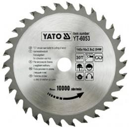 Диск пильный YATO по дереву 140х16х2.8х2.0 мм, 30 зубцов (YT-6053), , 172.00 грн, Диск пильный YATO по дереву 140х16х2.8х2.0 мм, 30 зубцов (YT-605, Yato, Диски пильные