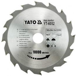 Диск пильный YATO по дереву 140х20х2.8х2.0 мм, 16 зубцов (YT-6052), , 149.00 грн, Диск пильный YATO по дереву 140х20х2.8х2.0 мм, 16 зубцов (YT-605, Yato, Диски пильные