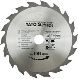 Диск пильный YATO по дереву 160х20х2.8х2.0 мм, 18 зубцов (YT-6055), , 172.00 грн, Диск пильный YATO по дереву 160х20х2.8х2.0 мм, 18 зубцов (YT-605, Yato, Диски пильные