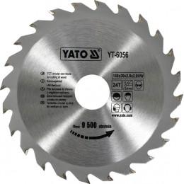 Диск пильный YATO по дереву 160х30х2.8х2.0 мм, 24 зубца (YT-6056), , 196.00 грн, Диск пильный YATO по дереву 160х30х2.8х2.0 мм, 24 зубца (YT-6056, Yato, Диски пильные