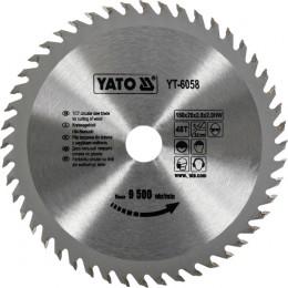 Диск пильный YATO по дереву 160x20x2.8x2.0 мм, 48 зубцов (YT-6058), , 242.00 грн, Диск пильный YATO по дереву 160x20x2.8x2.0 мм, 48 зубцов (YT-605, Yato, Диски пильные