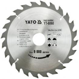 Диск пильный YATO по дереву 184х30х3.2х2.2 мм, 24 зубца (YT-6060), , 213.00 грн, Диск пильный YATO по дереву 184х30х3.2х2.2 мм, 24 зубца (YT-6060, Yato, Диски пильные