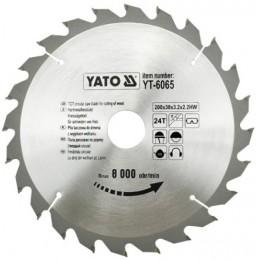 Диск пильный YATO по дереву 200х30x3.2x2.2 мм, 24 зубца (YT-6065), , 245.00 грн, Диск пильный YATO по дереву 200х30x3.2x2.2 мм, 24 зубца (YT-6065, Yato, Диски пильные