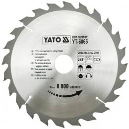 Диск пильный YATO по дереву 205х18х3.2x2.0 мм, 24 зубца (YT-6066), , 242.00 грн, Диск пильный YATO по дереву 205х18х3.2x2.0 мм, 24 зубца (YT-6066, Yato, Диски пильные