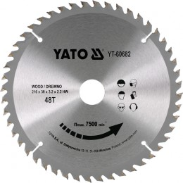 Диск пильный YATO по дереву 216х30х3.2х2.2 мм, 40 зубцов (YT-60682), , 357.00 грн, Диск пильный YATO по дереву 216х30х3.2х2.2 мм, 40 зубцов (YT-606, Yato, Диски пильные