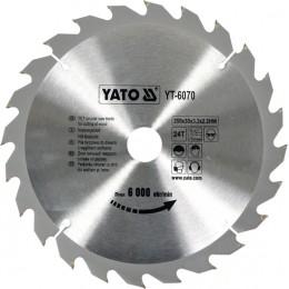 Диск пильный YATO по дереву 250х30х3.2х2.2 мм, 24 зубца (YT-6070), , 341.00 грн, Диск пильный YATO по дереву 250х30х3.2х2.2 мм, 24 зубца (YT-6070, Yato, Диски пильные