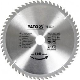Диск пильный YATO по дереву 250х30х3.2х2.2 мм, 60 зубцов (YT-6072), , 438.00 грн, Диск пильный YATO по дереву 250х30х3.2х2.2 мм, 60 зубцов (YT-607, Yato, Диски пильные