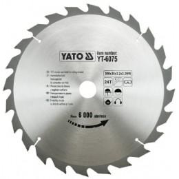 Диск пильный YATO по дереву 300х30x3.2x2.2 мм, 24 зубца (YT-6075), , 482.00 грн, Диск пильный YATO по дереву 300х30x3.2x2.2 мм, 24 зубца (YT-6075, Yato, Диски пильные