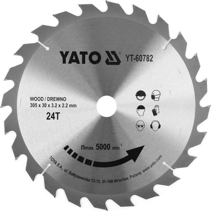 Диск пильный по дереву с победитовыми напайками Yato YT-60782 (305x30x3.2x2.2 мм), 24 зуба 415.00 грн