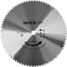 Диск пильный Yato по дереву 500x32x4.5 мм, 80 зубцов (YT-60872), , 2077.00 грн, Диск пильный Yato по дереву 500x32x4.5 мм, 80 зубцов (YT-60872), Yato, Диски пильные