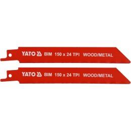 Полотна по дереву и металлу би-металлические для сабельной пилы Yato 150х1 мм, 24 зубов (YT-33932), , 79.00 грн, Полотна по дереву и металлу би-металлические для сабельной пилы , Yato, Пильные полотна