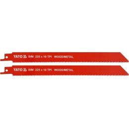 Полотна по дереву и металлу би-металлические для сабельной пилы Yato 225х1 мм, 10 зубов (YT-33933), , 114.00 грн, Полотна по дереву и металлу би-металлические для сабельной пилы , Yato, Пильные полотна