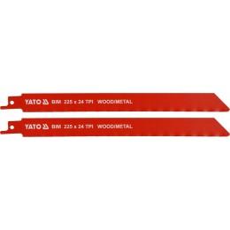 Полотна по дереву и металлу би-металлические для сабельной пилы Yato 225х1 мм, 24 зубов (YT-33934), , 114.00 грн, Полотна по дереву и металлу би-металлические для сабельной пилы , Yato, Пильные полотна