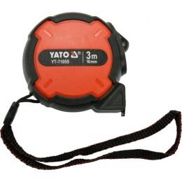 Рулетка Yato с нейлоновым покрытием 3 мx16 мм (YT-71055), , 72.00 грн, Рулетка Yato с нейлоновым покрытием 3 мx16 мм (YT-71055), Yato, Рулетки