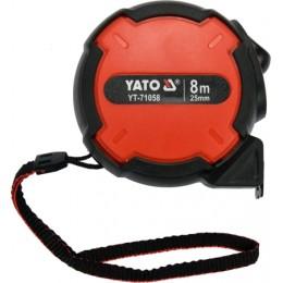 Рулетка Yato с нейлоновым покрытием 8 м x 25 мм (YT-71058), , 169.00 грн, Рулетка Yato с нейлоновым покрытием 8 м x 25 мм (YT-71058), Yato, Рулетки