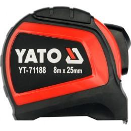 Рулетка Yato с нейлоновым покрытием 8 м x 25 мм (YT-71188), , 242.00 грн, Рулетка Yato с нейлоновым покрытием 8 м x 25 мм (YT-71188), Yato, Рулетки