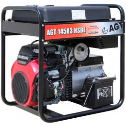 Генератор бензиновый AGT 14503 HSBE R45