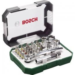 Набор бит Bosch Promobasket 27 шт. с трещеткой + угловая отвертка (2607017392) 712.00 грн