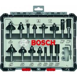 Набор фрез смешанный Bosch 8 мм. 15 шт. (2607017472) 2926.00 грн
