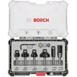 Набор кромочных фрез Bosch с хвостовиком 8 мм, 6 шт. (2607017469) 1355.00 грн