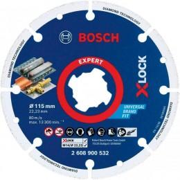 Алмазный диск по металлу Bosch X-LOCK Expert for Metal, 115x22,23 мм (2608900532) 381.00 грн