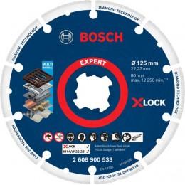 Алмазный диск по металлу Bosch X-LOCK Expert for Multi-Material, 125x22,23 мм (2608900533)