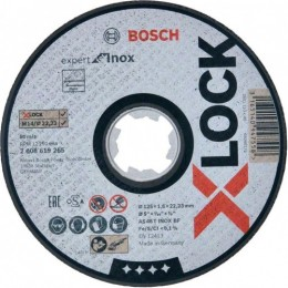 Круг отрезной Bosch X-Lock Expert for Inox 125x1.6x22.23 мм (2608619265)