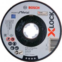 Круг отрезной Bosch X-Lock Expert for Metal, 125х1,6х22,23 мм (2608619254)