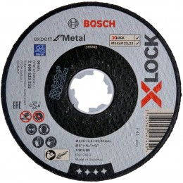 Круг отрезной Bosch X-Lock Expert for Metal 125x2.5x22.23 мм (2608619255)
