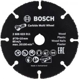 Твердосплавный диск Bosch по дереву 76 мм для GWS 10.8 (2608623011)