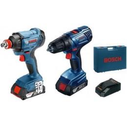 Комплект аккумуляторных инструментов Bosch GSR 180 LI + GDX 180 LI (2x GBA 18V 1,5 Ah) in case (06019G5222) 9783.00 грн