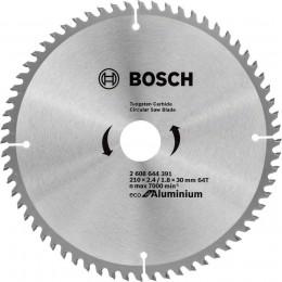 Пильный диск Bosch ECO ALU/Multi 210x30 64 зуб. (2608644391)