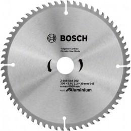 Пильный диск Bosch ECO ALU/Multi 230x30 64 зуб. (2608644392)