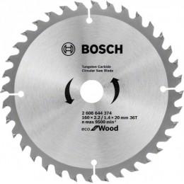 Пильный диск Bosch ECO WO 160x20/16 36 зуб. (2608644374)