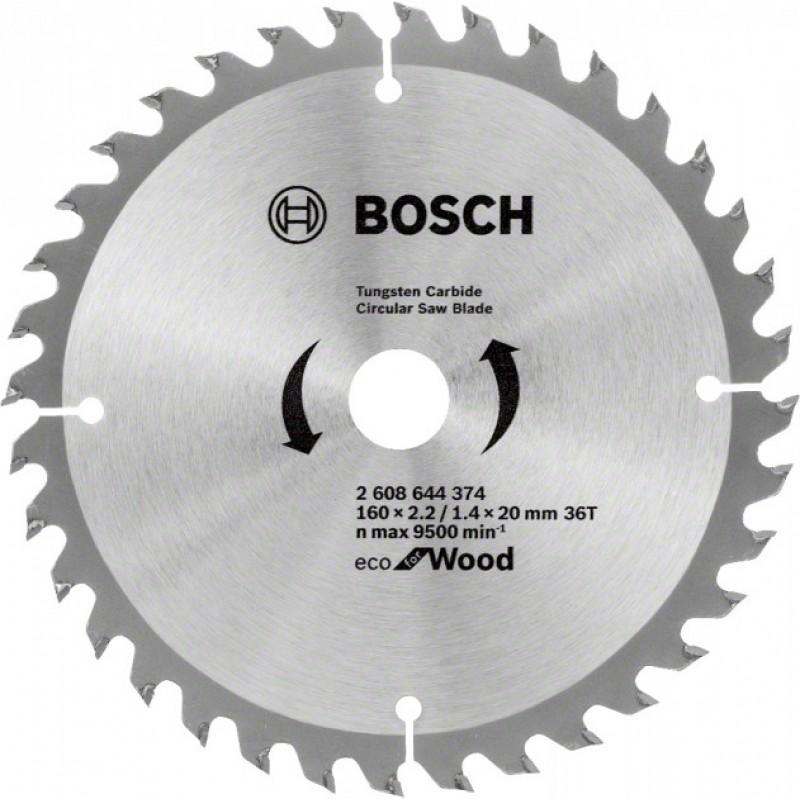 Пильный диск Bosch ECO WO 160x20/16 36 зуб. (2608644374) 382.00 грн