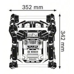 Радио / зарядное устройство Bosch GML 50 (0601429600) (без аккумулятора и ЗУ) 10561.00 грн