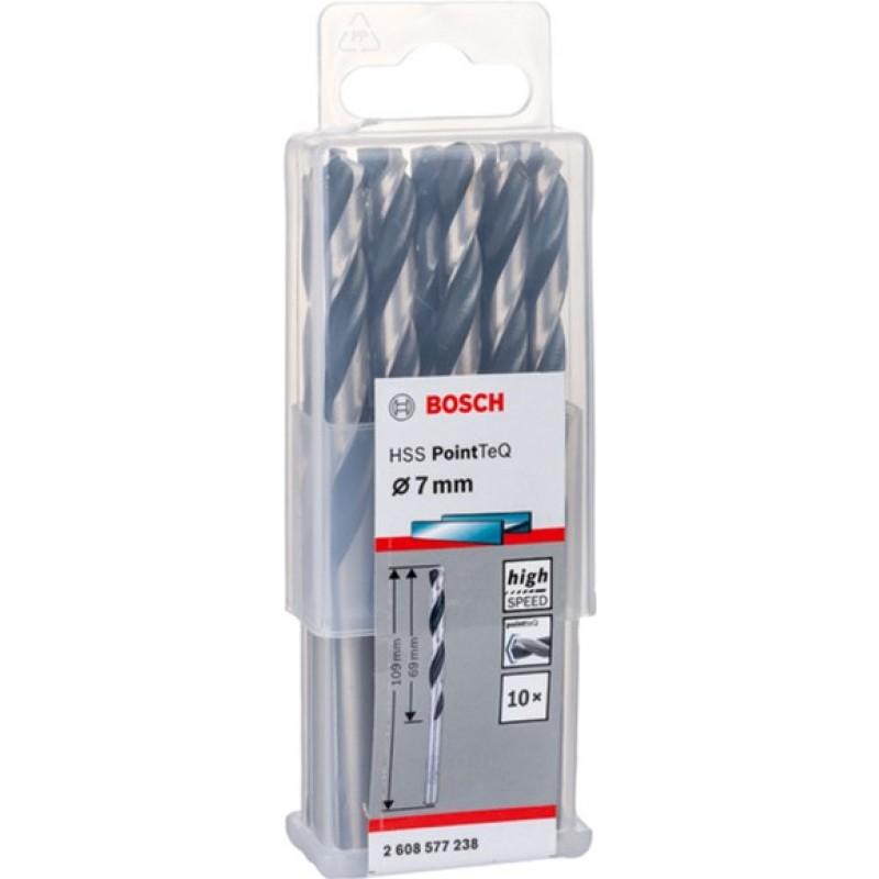 Сверло Bosch 10 HSS PointTeQ 7 мм, 10 шт (2608577238) 351.00 грн