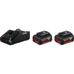 Зарядное устройство Bosch GAL 18V-40 + 2 аккумулятора GBA 18 В 4.0 A*ч (1600A019S0)