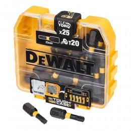 Набор бит DeWALT EXTREME FLEXTORQ, Torx, 25 мм, 25 шт, кейс (DT70558T)