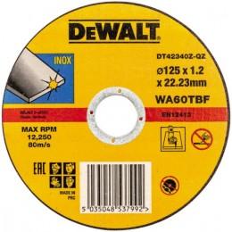 Круг отрезной DeWALT INOX DT42340Z, 125х1,2х22,23 мм