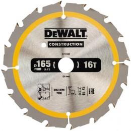 Диск пильный DeWALT CONSTRUCTION DT1948, 165х20 мм, 16z