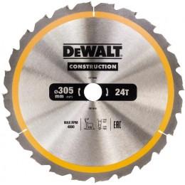 Диск пильный DeWALT CONSTRUCTION DT1958, 305х30 мм, 24z