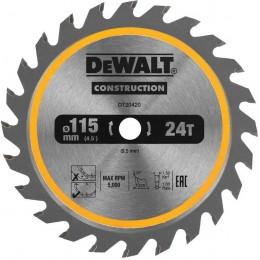 Диск пильный универсальный DeWALT DT20420 (115х9.5 мм)