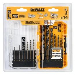 Набор сверл по металлу DeWALT Black&Gold HSS-G, 19 шт, кейс (DT70728)