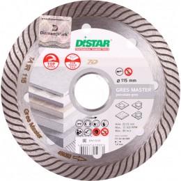 Диск алмазный по керамограниту Distar 1A1R Gres Master 115x22.2x1.4 мм (11115160009)