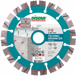 Круг алмазный отрезной Distar 1A1RSS/C3-H 150x2,3/1,5x11x22,23-12 Technic Advanced (14315347012)
