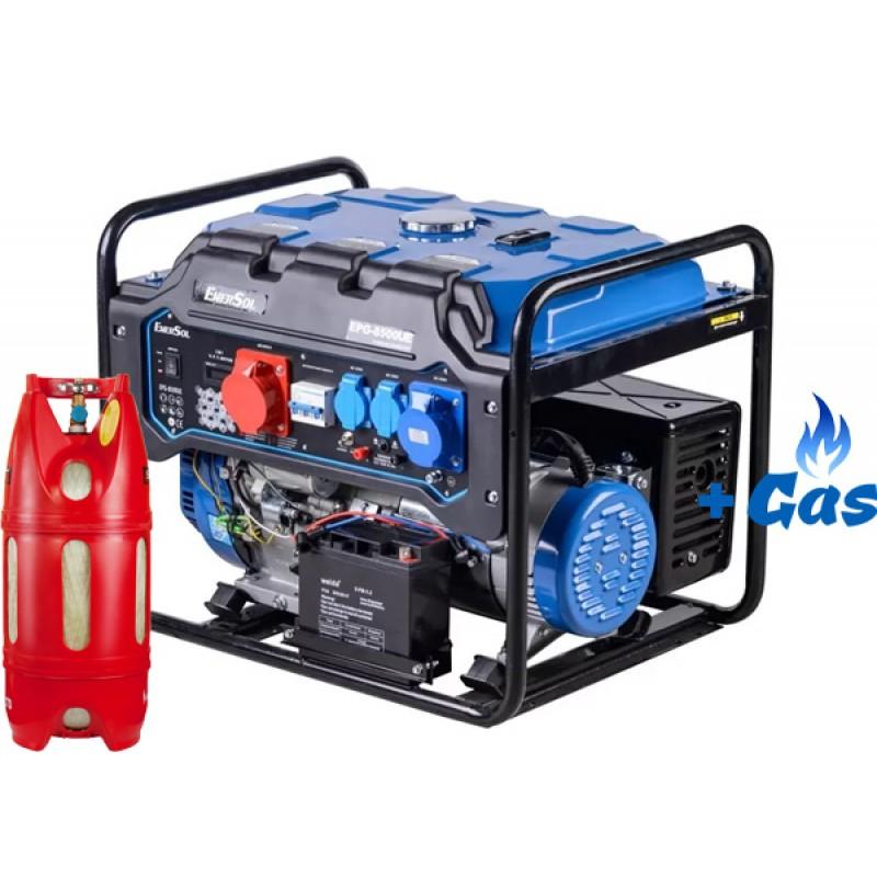 Двухтопливный генератор EnerSol EPG-8500UE одно/трехфазный ГАЗ-БЕНЗИН 33898.00 грн
