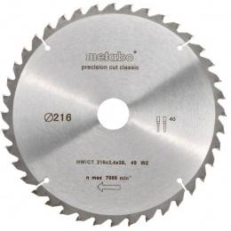 Пильный диск Metabo 216x30, HW/CT 30 WZ22 (628062000)