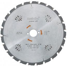 Пильный диск Metabo 254x30, HW/CT 24 WZ (628025000)